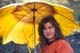 LADY WITH SUNFLOWER UMBRELLA, ALGONQUIN PROVINCIAL PARK