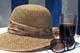 HAT, DRINK, AND SUNGLASSES ON BEACH TABLE, PUERTO VALLARTA