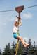 YOUNG GIRL ON ZIP WIRE, ROSTHERN