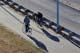 PEOPLE RIDING BIKES ON MEEWASIN TRAIL, SASKATOON