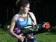 GIRL PLAYING WITH WATER GUN, SASKATOON