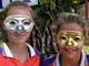 GIRLS WEARING MARDI GRAS MASKS, SASKATOON