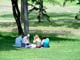 PEOPLE PICNICKING IN THE PARK, SASKATOON