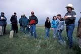 PEO ACT OUT  SK   WS21768D  NMRGROUP STUDYING GRASSLANDS, BALAS RANCHVAL MARIE                          07/..© WAYNE SHIELS                ALL RIGHTS RESERVEDACTIVITIES;BALAS_RANCH;CO_ED;EDUCATION;GRASSLANDS;GROUPS;OUTDOORS;PEOPLE;PLAINS;PRAIRIES;SASKATCHEWAN;SK_;SUMMER;TOURISM;VAL_MARIELONE PINE PHOTO              (306) 683-0889