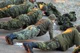 PEO ACT OUT  SK  WDS06H2699DXRESERVISTS DOING MORNING EXCERCISESSASKATOON                       09© WAYNE SHIELS                ALL RIGHTS RESERVEDACTIVITIES;AUTUMN;GROUPS;MILITARY;OUTDOORS;PEOPLE;PLAINS;PRAIRIES;PUSH;RESERVISTS;SASKATCHEWAN;SASKATOON;SK_;SOLDIERS;TRAINING;UNIFORMS;UPLONE PINE PHOTO              (306) 683-0889