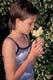 GIRL PICKING CHOKECHERRY BLOSSOMS, PIKE LAKE PROVINCIAL PARK
