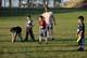 CHILDREN PRACTICING FLAG FOOTBALL, WARMAN