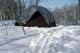 NYLON TENT IN WINTER, PRINCE ALBERT