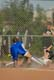 RUNNER AT BASE, LADIES BALL TEAM, SASKATOON
