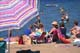 PEOPLE ON BEACH, WASKESIU LAKE, PRINCE ALBERT NATIONAL PARK