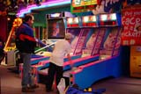 REC ARC MIS  SK  CWN02T0112D  NMR    FATHER AND SON PLAYING ARCADE GAMESASKATOON                            05..© CLARENCE W. NORRIS           ALL RIGHTS RESERVEDACTIVITIES;ARCADES;BOY;CHILDREN;COLOURS;FUN;GAMES;INDOORS;MALE;NUMBERS;PEOPLE;PLAINS;PRAIRIES;RECREATION;SASKATCHEWAN;SASKATCHEWAN;SASKATOON;SHARING;SK_LONE PINE PHOTO                   (306) 683-0889