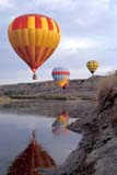 REC BAL HOT  AB  BRH1801708D  VT             HOT AIR BALLOONS OVER BADLANDSDRUMHELLER                       05/04© CLARENCE W. NORRIS      ALL RIGHTS RESERVEDAB_;ACTIVITIES;ALBERTA;BADLANDS;BULLETINS;COLOURS;DRUMHELLER;HOT_AIR_BALLOONS;OUTDOORS;RECREATION;RIVERS;SHORELINE;SPRING;VTL;WATERLONE PINE PHOTO              (306) 683-0889