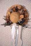REC CRA MIS  ON     2102320D  VT DECORATED STRAW HATJACOBSTETTEL BED & BREAKFASTST. JACOB'S                      01/..© CLARENCE W. NORRIS     ALL RIGHTS RESERVEDBULLETINS;CRAFTS;HATS;JACOBSTETTEL_BED_AND_BREAKFAST;ON_;ONTARIO;ORNAMENTS;RECREATION;ST_JACOBS;VTLLONE PINE PHOTO              (306) 683-0889