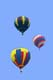 HOT AIR BALLOONS IN FLIGHT, SUSSEX BALLOON FESTIVAL, SUSSEX