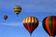 HOT AIR BALLOONS IN SKY, SUSSEX BALLOON FESTIVAL, SUSSEX