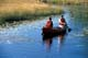 COUPLE CANOEING ON CREEK, LAC LA RONGE PROVINCIAL PARK