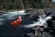 SOLO CANOEIST, NISTOWIAK FALLS, LAC LA RONGE PROVINCIAL PARK