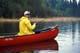 FISHERMAN IN RED CANOE, DEVIL LAKE