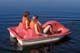 GIRLS IN PADDLE BOAT, PIKE LAKE PROVINCIAL PARK