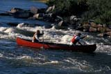 REC CAN MIS  SK     1512615D  MR   CANOEISTS IN RAPIDSLITTLE STANLEY RAPIDSLAC LA RONGE PROV. PK.    09/09© CLARENCE W. NORRIS      ALL RIGHTS RESERVEDACTIVITIES;BOREAL;CANOEING;LAC_LA_RONGE_PP;MALE;MR_;OUTDOORS;PARKS;PEOPLE;PP_;RAPIDS;RIVERS;SAFETY;SASKATCHEWAN;SK_;SPORTS;SUMMER;TEAMWORK;WATERLONE PINE PHOTO              (306) 683-0889