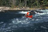 REC CAN MIS  SK     1513433D  SOLO CANOEIST AT UPPER FALLS NISTOWIAK FALLS, RAPID RIVERLAC LA RONGE PROV. PARK  09/10© CLARENCE W. NORRIS       ALL RIGHTS RESERVEDACTIVITIES;BOREAL;CANOEING;LIFEJACKETS;MALE;MR_;NISTOWIAK_FALLS;OUTDOORS;PEOPLE;PP_;RAPID_RIVER;RAPIDS;RECREATION;RIVERS;SAFETY;SASKATCHEWAN;SK_;SPORTS;SUMMER;WATER;WATERFALLSLONE PINE PHOTO               (306) 683-0889