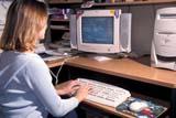 REC COM MIS  SK     2012419D  MR #349GIRL SITTING AT COMPUTER WORK STATIONSASKATOON                      12/..© CLARENCE W. NORRIS     ALL RIGHTS RESERVEDACTIVITIES;COMPUTERS;FEMALE;INDOORS;MR_;OFFICES;PEOPLE;PLAINS;PRAIRIES;RECREATION;SASKATCHEWAN;SASKATOON;SK_;TECHNOLOGY;TEENS;TYPINGLONE PINE PHOTO              (306) 683-0889