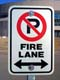 FIRE LANE, NO PARKING SIGN, SASKATOON