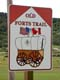 OLD FORTS TRAIL SIGN, CYPRESS HILLS