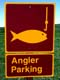 ANGLER PARKING SIGN, EASTEND