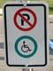 NO PARKING AND DISABILITY SIGN, SASKATOON