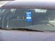 DISABLED PERSON PARKING PERMIT IN CAR WINDOW, SASKATOON