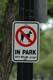 SIGN FOR NO ANIMALS IN PARK, SASKATOON