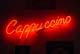 CAPPUCCINO NEON SIGN, BROADWAY CAFE, SASKATOON