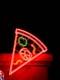 NEON SIGN OF BOSTON PIZZA, SLICE OF PIZZA, YORKTON