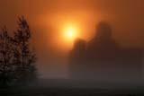 STR ELE POO  SK  CWN2205902D  GRAIN ELEVATOR AT SUNRISE IN MORNING FOGDUVAL                                   0730© CLARENCE W NORRIS           ALL RIGHTS RESERVEDBUILDINGS;DUVAL;ELEMENTS;ELEVATORS;FARMING;FOG;PLAINS;PRAIRIES;RURAL;SASKATCHEWAN;SCENES;SILHOUETTE;SK_;STRUCTURES;SUMMER;SUNRISES;WEATHERLONE PINE PHOTO                  (306) 683-0889.