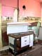 KITCHEN, PINK WALLS, WOOD STOVE IN OLD HOUSE, STEWART VALLEY